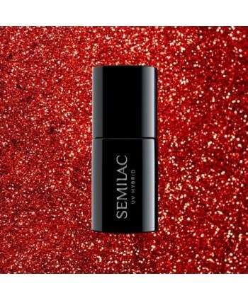 Semilac - gél lak 318  Burgundy Red Glitter 7ml