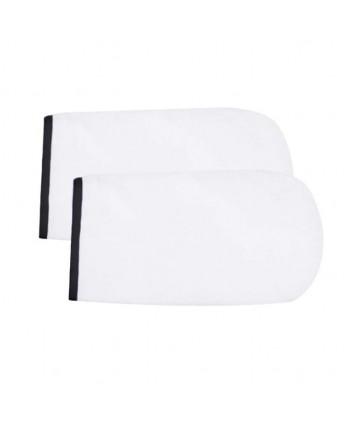 NeoNail rukavice Terry - biele s čiernym lemovaním