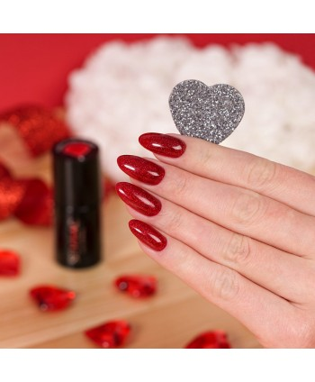 Semilac - gél lak 347 Pretty Red Glitter 7ml