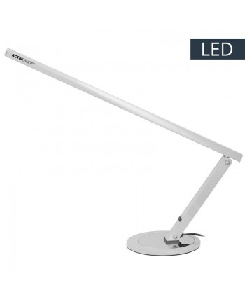 Profesionálna LED stolová lampa slim strieborná