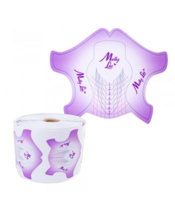 Šablóny na nechty Molly  Premium fialové 500ks