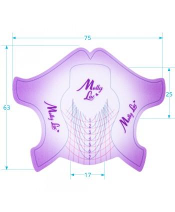 Šablóny na nechty Molly  Premium fialové 100ks