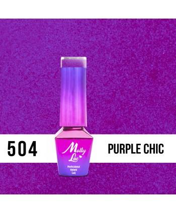 504. MOLLY LAC gél lak Bling it on! Purple Chic 5ml