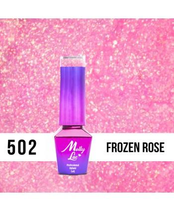 502. MOLLY LAC gél lak Bling it on! Frozen Rose 5ml