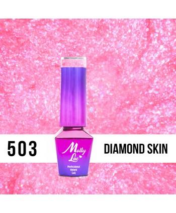 503. MOLLY LAC gél lak Bling it on! Diamond Skin 5ml