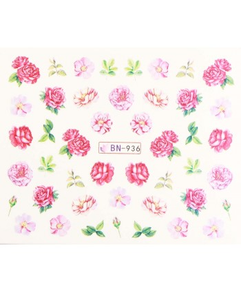 Vodonálepky s motívmi kvetov BN-936
