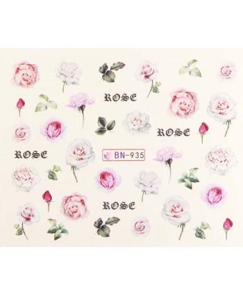 Vodonálepky s motívmi kvetov BN-935