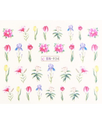 Vodonálepky s motívmi kvetov BN-934