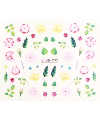 Vodonálepky s motívmi kvetov BN-932