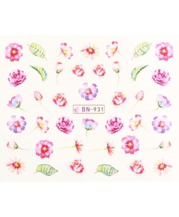 Vodonálepky s motívmi kvetov BN-931
