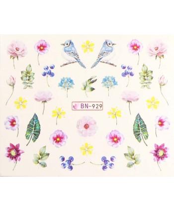 Vodonálepky s motívmi kvetov BN-929