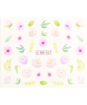 Vodonálepky s motívmi kvetov BN-927
