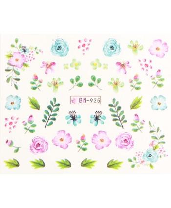 Vodonálepky s motívmi kvetov BN-925