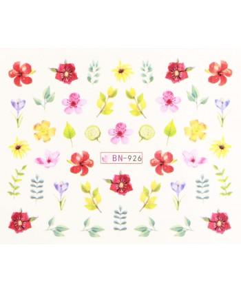 Vodonálepky s motívmi kvetov BN-926