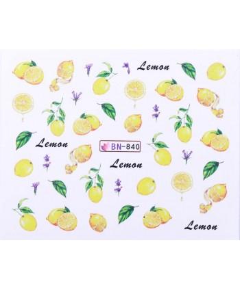 Vodonálepky s motívmi ovocia BN-840