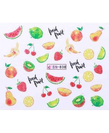 Vodonálepky s motívmi ovocia BN-838