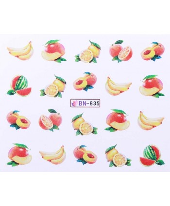 Vodonálepky s motívmi ovocia BN-835