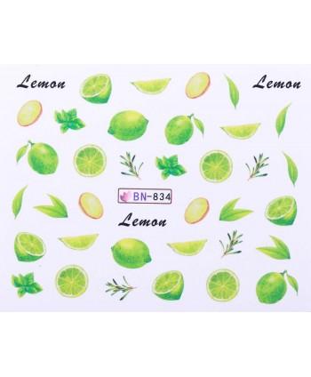 Vodonálepky s motívmi ovocia BN-834