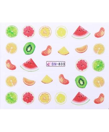 Vodonálepky s motívmi ovocia BN-833