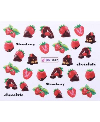 Vodonálepky s motívmi ovocia BN-832