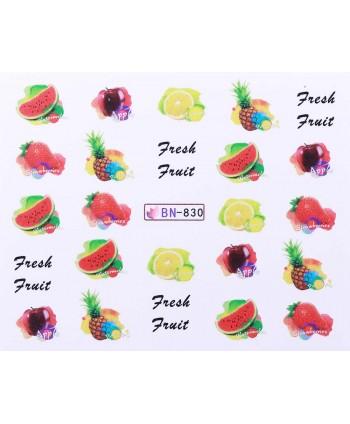 Vodonálepky s motívmi ovocia BN-830