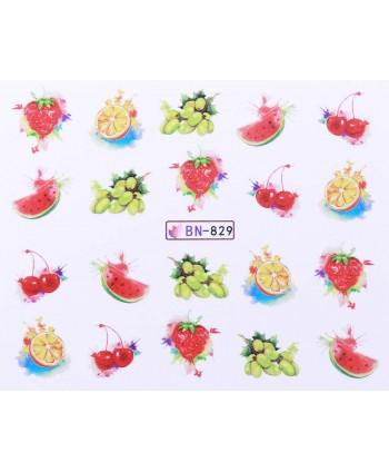 Vodonálepky s motívmi ovocia BN-829