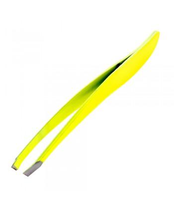 Profesionálna kozmetická pinzeta šikmá neon žltá