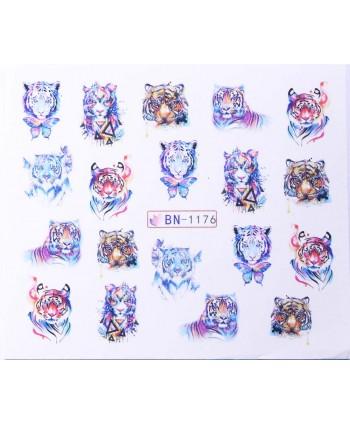 Vodonálepky s motívom tigra BN-1176