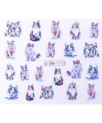 Vodonálepky s motívom mačiek BN-1172