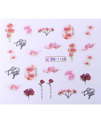 Vodonálepky s motívom kvetov BN-1168