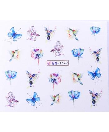 Vodonálepky s motívom motýľov BN-1166