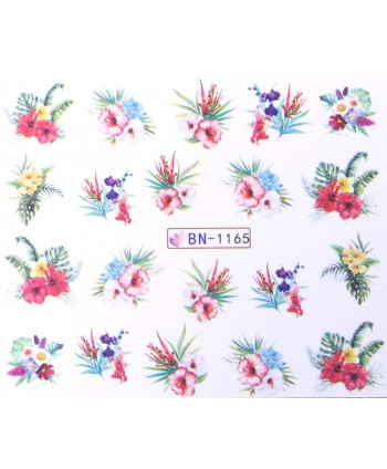 Vodonálepky s motívom kvetov BN-1165