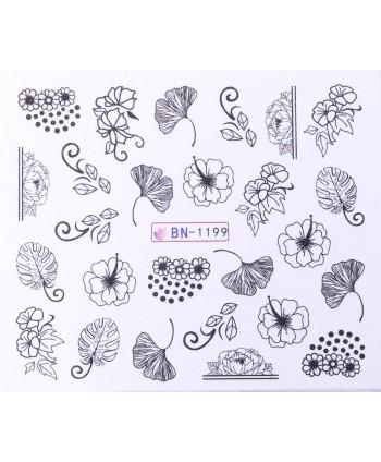 Vodonálepky s motívmi kvetov BN-1199
