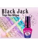 Molly Lac - gél lak Top coat Black Jack bezvýpotkový 5ml