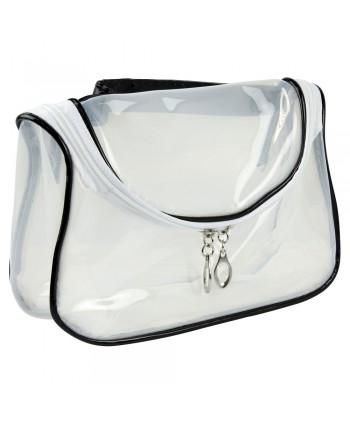 Kozmetická taštička transparentná - bielo čierna