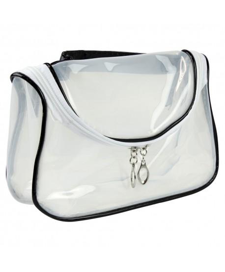 Kosmetická taštička transparentní - bílo černá