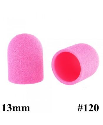 Brúsne klobúčiky ružové 10ks zrnitosť 120  primer 13mm