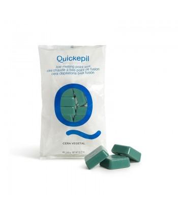 Quickepil bezpáskový vosk na depiláciu zelený 1kg