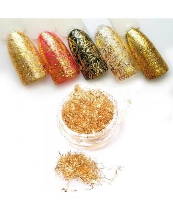 Lesklé mikro tenké nite na ozdoby Spiderweb Gold 4