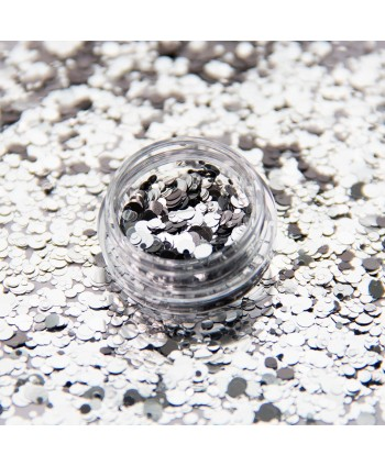 Prášok na nechty Silver Drops
