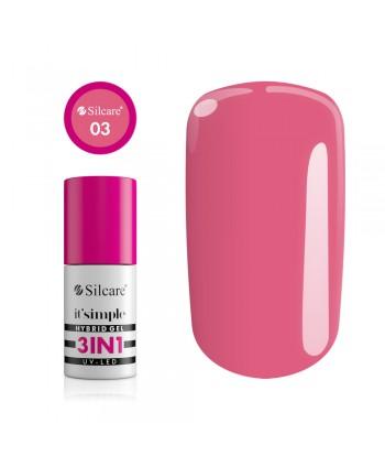Silcare gél lak 3v1 Pink Coral  6,5g