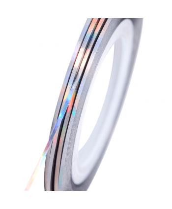 NeoNail zdobiaci pásik strieborný holografický