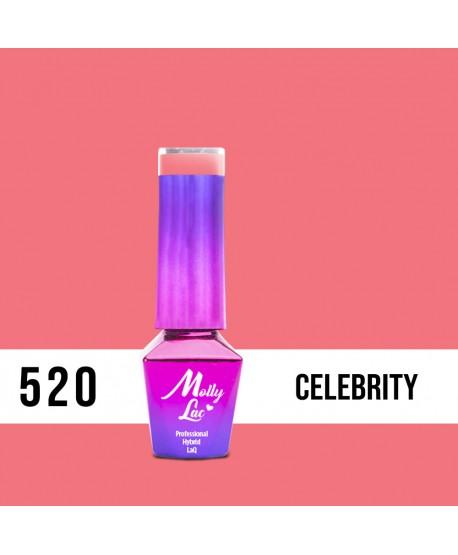 520. MOLLY LAC gel lak - Celebrity 5ml