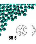 A La Swarovski SS 5 - Emerald 50 ks