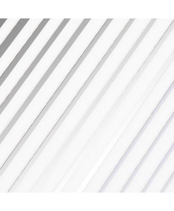 Nálepky na nechty pásiky 3D Joyfull Silver