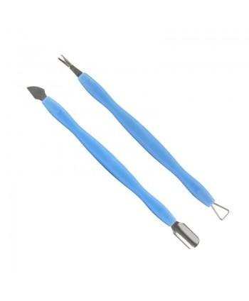 Sada profesionálnych nástrojov pre manikúru a pedikúru- modrá