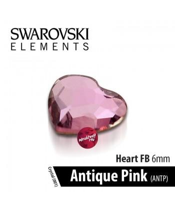 Swarovski srdce Antique Pink  6 mm