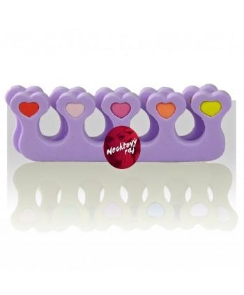 Rozdeľovač prstov fialový - pár