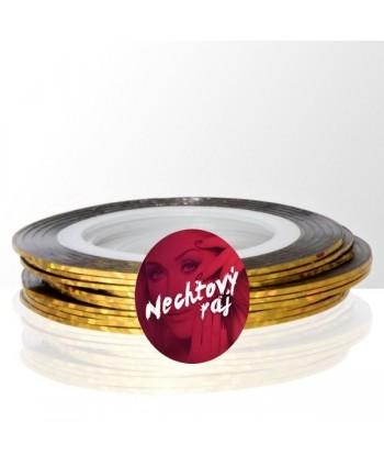 Zdobiaci pásik 31 - zlatá holografická