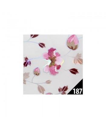 Transfér zdobiaca fólia 187 kvety  100 cm